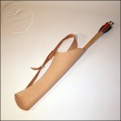 Back leather quiver