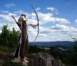 Archeress on Kašperk - shooting