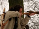 Medieval crossbow shooting